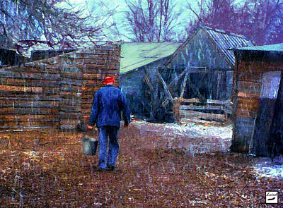 Morning Chores Original by Laird Roberts