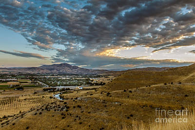 Haybales Photograph - Morning Clouds Over The Valley by Robert Bales