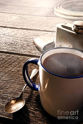 Flasks Photograph - Morning Coffee At The Ranch  by Olivier Le Queinec