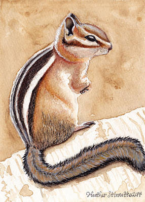 Morning Coffee Chipmunk Art Print