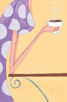 Art For Children Painting - Morning Coffee by Christy Beckwith
