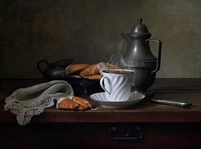 A Sunny Morning Photograph - Morning Coffee  by Helen Tatulyan