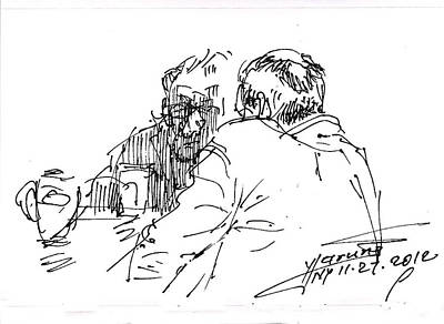 Coffee Drawing - Morning Coffee by Ylli Haruni