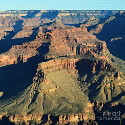 Scenics Photograph - Morning Color And Shadow Play In Grand Canyon National Park Square by Shawn O'Brien