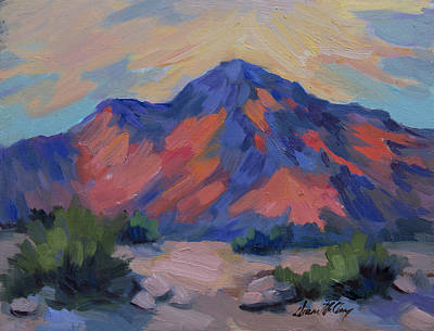 Painting - Morning Color San Jacinto by Diane McClary
