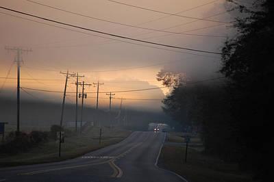 Morning Commute - Foggy Sunrise Art Print