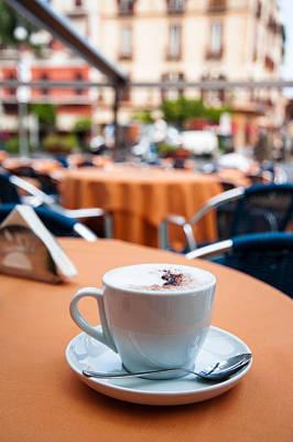 Western Art - Morning cup of coffee by Zina Zinchik by Zina Zinchik