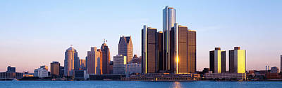 Morning, Detroit, Michigan, Usa Art Print by Panoramic Images