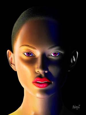 Women Digital Art - Morning Dew by Anthony Mwangi