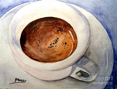 Morning Espresso Art Print by Carol Grimes