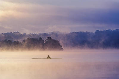 Canoes Photograph - Morning Exercise by ??? / Austin