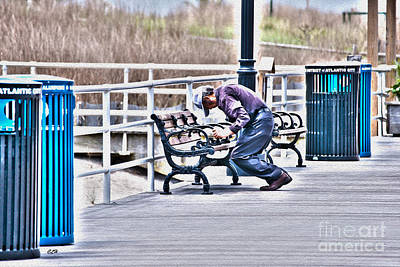 Photograph - Morning Exercise On The Boardwalk by Crystal Harman