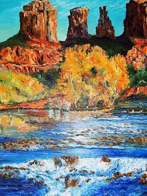 Robert Schmidt Painting - Morning Fall In Sedona by Robert Schmidt