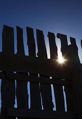 Photograph - Morning Fence by Sylvia Thornton