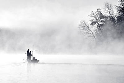 Mist Photograph - Morning Fishing 5 by Eric Zhang