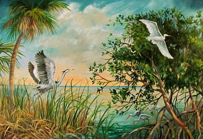 Morning Flight Art Print by Dianna  Willman