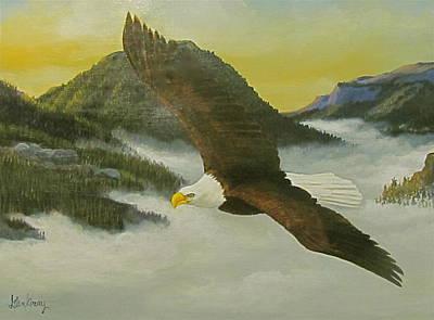 Soaring Painting - Morning Flight by Glen Gray