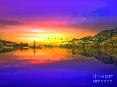 Skaha Lake Photograph - Morning Flight by Tara Turner