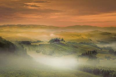 Valley Wall Art - Photograph - Morning Fog ... by Marcos Dijkos