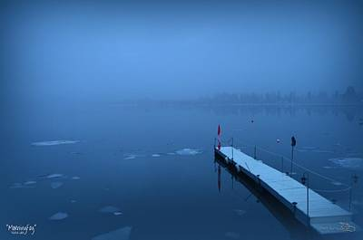 Morning Fog 002 - Skaha Lake 03-06-2014 Art Print
