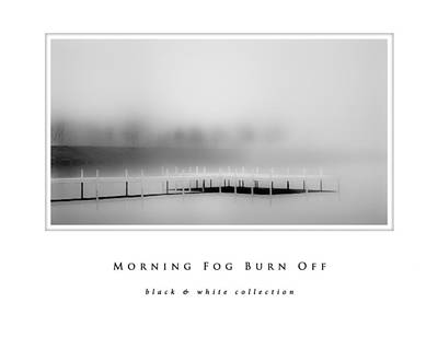 Photograph - Morning Fog Burn Off Black And White Collection by Greg Jackson