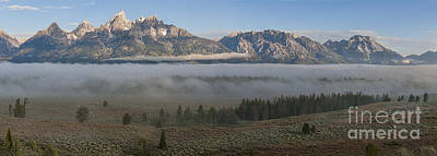 Photograph - Morning Fog In Grand Teton by Sandra Bronstein
