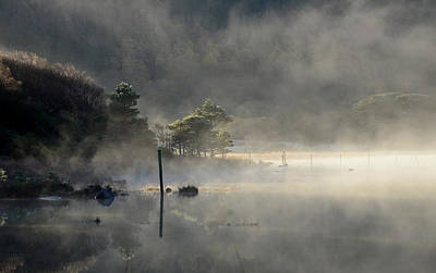 Photograph - Morning Fog On Muckross Lake by Barbara Walsh