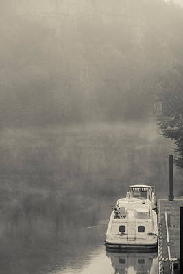 Morning Fog Over Lot River, Bouzies Art Print by Panoramic Images