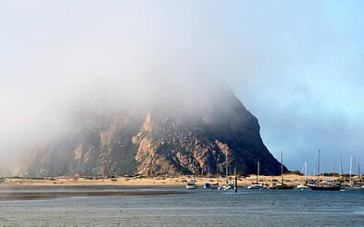 Photograph - Morning Fog Over Morro Rock by AJ  Schibig