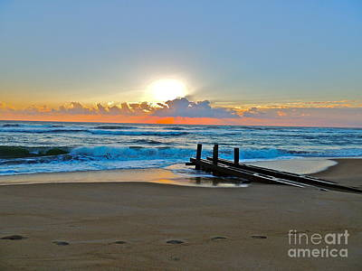 Photograph - Morning Footprints by Eve Spring
