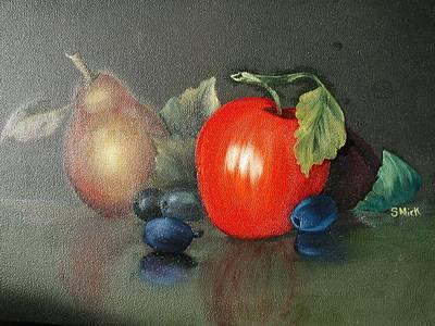 Animal Paintings David Stribbling - Morning Fruit by Sharon Mick