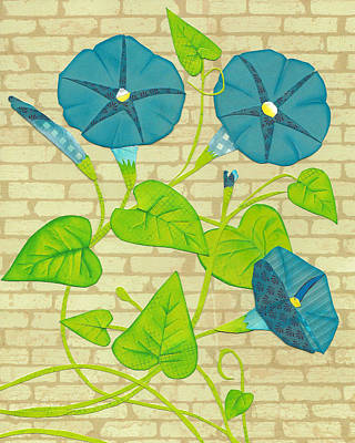 Mixed Media - Morning Glories by Brian Fuchs
