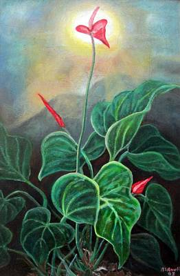 Painting - Morning Glory 1 by Ewan  McAnuff