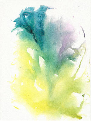Art Print featuring the painting Morning Glory Abstract by Frank Bright
