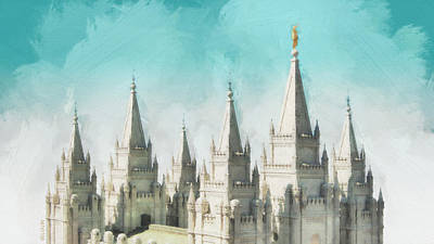 Salt Lake Temple Wall Art - Painting - Morning Glory by Greg Collins