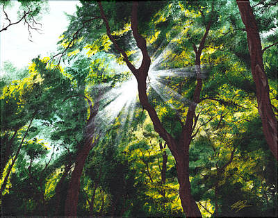 Sun Rays Painting - Morning Glory by Joe Burgess