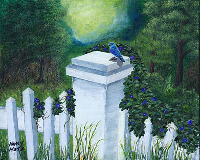 Painting - Morning Glory by Nancy Hotz