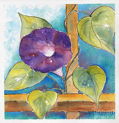 Painting - Morning Glory by Pat Katz
