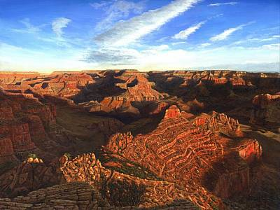 Canyons Painting - Morning Glory - The Grand Canyon From Kaibab Trail  by Richard Harpum