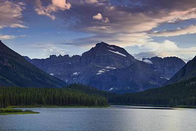 Many Glacier Photograph - Morning Glow At Glacier Park by Andrew Soundarajan