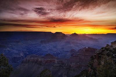 Morning Glow At The Canyon Art Print