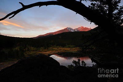 Morning Glow On Mountain Peaks Art Print