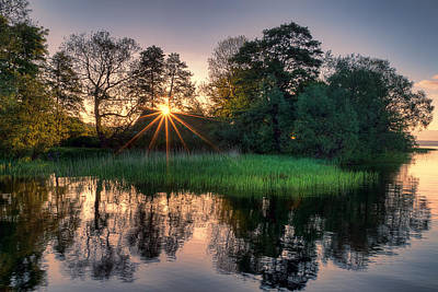 Photograph - Lakeside Glow by EXparte SE