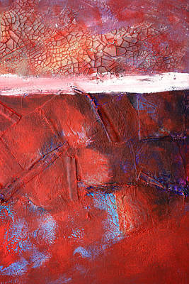 Color Block Mixed Media - Morning Grit by Nancy Merkle