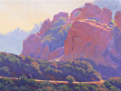 Morning Hike Cathedral Rock Art Print by Elena Roche