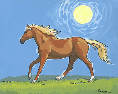 Chestnut Horse Painting - Morning Horse by Tracie Thompson