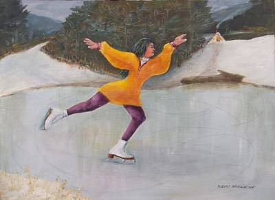 Painting - Morning Ice Skater by Robert Harrington