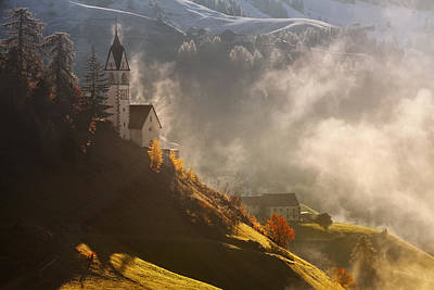Tyrol Wall Art - Photograph - Morning In Alpine Valley by Daniel ?e?icha