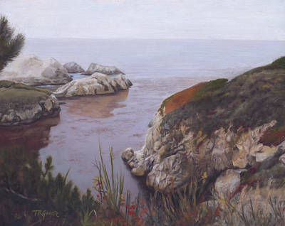 Point Lobos Painting - Morning In Carmel by Terry Guyer
