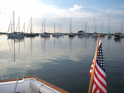 Photograph - Morning In Cuttyhunk Harbor by Paul and Janice Russell
